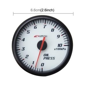 Universal 2.5 inch 60mm Oil Pressure Gauge Auto Gauge Meter Oil Temp Gauge Pointer for Car Oil Press Temp Meter Auto Gauge
