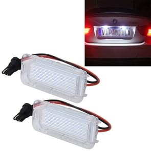 2 PC's licentie plaat licht met 18 SMD-3528 lampen voor Ford  2W 120LM  6000K  DC12V(White Light)