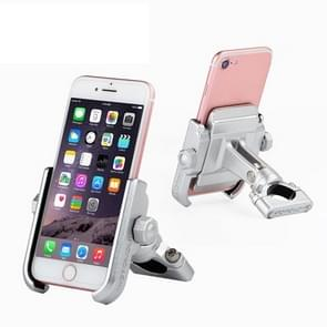 Motorcycle Handlebar Aluminum Alloy Phone Bracket, Suitable for 4-6 inch Device(Silver)