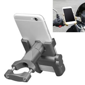 Motorfiets stuur aluminium legering telefoonbeugel  geschikt voor 60-100mm Apparaat (Grijs)