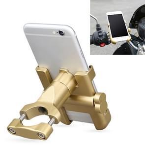 Motorfiets stuur aluminium legering telefoonbeugel  geschikt voor 60-100mm Apparaat (Goud)