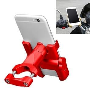 Motorfiets stuur aluminium legering telefoonbeugel  geschikt voor 60-100mm Apparaat (Rood)
