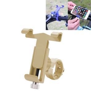 360 graden draaibare aluminium legering telefoonbeugel voor fiets  geschikt voor 50-100mm Apparaat (Goud)