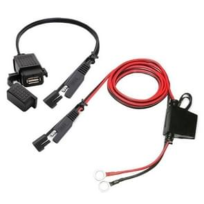 Motorfiets 5V 2.1a USB Charger Kit SAE USB-adapter  met extensie Harness waterdicht