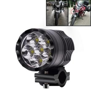 DC12V-85V 4000LM 6000K 30W IP67 6 LED Lamp Beads Motorcycle Aluminum Alloy LED Headlight Lamps, Constantly Bright