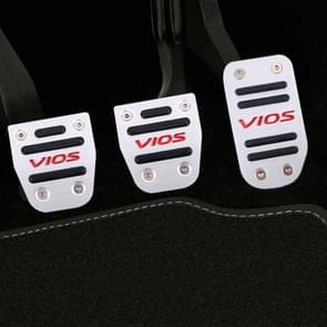 3 PCS Automatic Transmission Car Pedals Pads for Toyota Vios