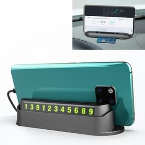 Multi-functional Creative Hidden Temporary Parking Number Plate / Car Mobile-phone Holder