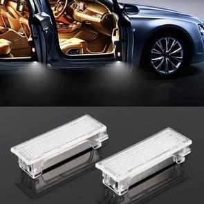2 PCS LED Car DC 12V 1.5W 6000K 100LM Door Lights 18LEDs SMD-3528 Lamps for BMW E81(White Light)