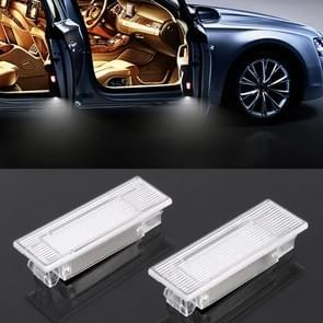 2 PCS LED Car DC 12V 1.5W 6000K 100LM Door Lights 18LEDs SMD-3014 Lamps for BMW F10(White Light)