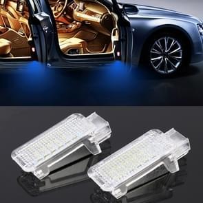 2 PCS LED Car DC 12V 1.5W Door Lights Lamps for Audi / Volkswagen(Blue Light)