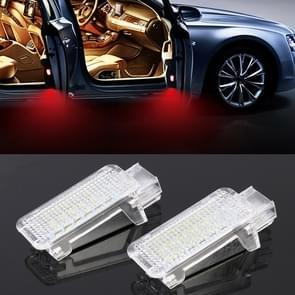 2 PCS LED Car DC 12V 1.5W Door Lights Lamps for Audi / Volkswagen(Red Light)