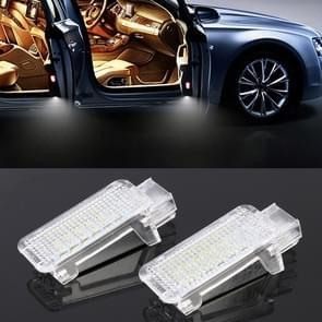 2 PCS LED Car DC 12V 1.5W Door Lights Lamps for Audi / Volkswagen(White Light)