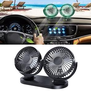 Multi-functie kantoor auto grote wind kracht Mute elektrische ventilator (zwart)