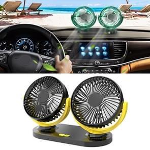 Multi-function Office Car Big Wind Force Mute Electric Fan(Yellow)