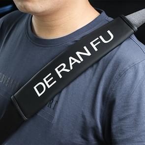 DERANFU auto veiligheid cover Strap veiligheidsgordel schouder beschermer (zwart)