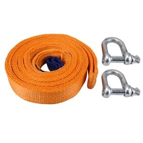 ZONGYUAN ZY-0223 Car 5m×5cm 8 Ton Towing 2 Ton Lifting Rope Straps met Two Hooks High Strength Kabel Cord Heavy Duty Recovery Securing Accessories voor Cars Trucks