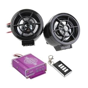 2 stk motorfiets universele waterdichte Audio alarmsysteem  ondersteuning TF kaart MP3 FM