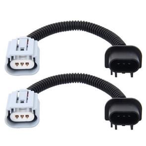 2 stk H13 auto HID Xenon koplamp Male naar vrouwelijke conversiekabel met keramische Adapter Socket