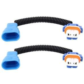 2 stk 9005 auto HID Xenon koplamp Male naar vrouwelijke conversiekabel met keramische Adapter Socket