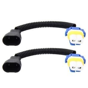 2 stk 9006 auto HID Xenon koplamp Male naar vrouwelijke conversiekabel met keramische Adapter Socket
