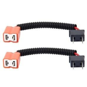 2 stk H7 auto HID Xenon koplamp Male naar vrouwelijke conversiekabel met keramische Adapter Socket