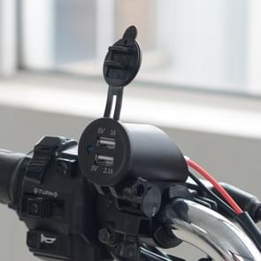 Motorcycle Faucet Waterproof 12-24V 2.1A Dual USB Charger Adapter