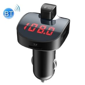 BBL08 Dual USB Charging Smart Bluetooth FM Transmitter MP3 Music Player Car Kit, Support Hands-Free Call  & TF Card & U Disk