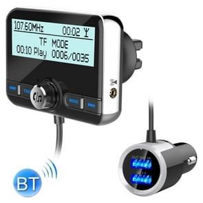 DAB002 Auto DAB Dual USB opladen Smart Bluetooth digitale FM zender MP3 muziek speler carkit  ondersteuning voor Hands-Free Call & TF kaart