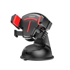 JOYROOM JR-OK2 T-type Auto Siliconen Zuigbeker telefoonhouder (Zwart Rood)