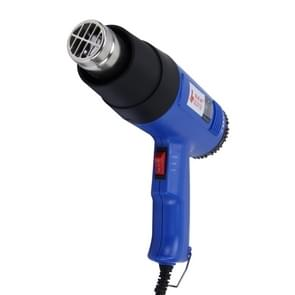 DINGGUAGUA 1800W Industrial Heavy Duty Professional Adjustable Temperature from 50 Degrees Celsius to 650 Degrees Celsius Heat Air Gun Tool with Temperature Display