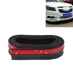 Universele 2 5 m auto voorkant Achterbumper Lip Splitter Spoiler rok zelfklevende Protector(Black)