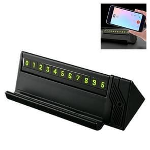 JS-Q02 auto dubbele nummer tijdelijke parking nummerplaat parkeerkaart telefoon houder met aromatherapie (zwart)