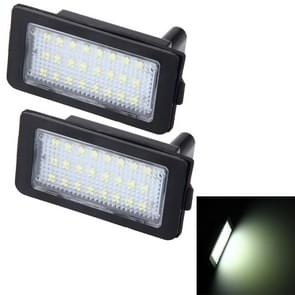 2 PC's Canbus licentie plaat licht met 24 SMD-3528 lampen voor BMW E38(White Light)