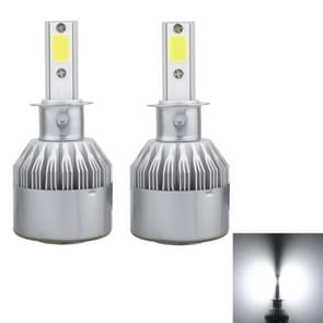 2 stk H3 36W 3600 LM 6000K IP68 Canbus constante huidige auto LED koplamp met 2 COB-lampen  DC 9-36V(White Light)