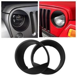 Car Angry Bird Style Front Light Headlight Trim Cover for Jeep Wrangler JK 2007-2018 (2 Doors / 4 Doors)