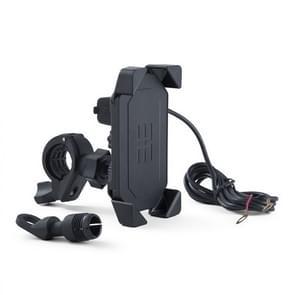 Motorfiets mobiele telefoon opladen standaard met USB-opladen  geschikt voor 3 5-7 inch telefoons