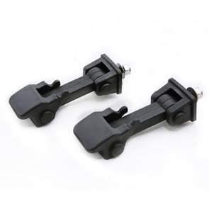 2 PCS Car Anti-Theft Hood Latch Locking Catch Buckle Engine Cover for Jeep Wrangler JK 2007-2017