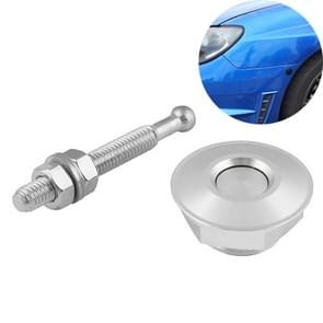 Car Mini Stainless Steel Quick-pins Push Button Billet Hood Pins Lock Clip Kit (Silver)
