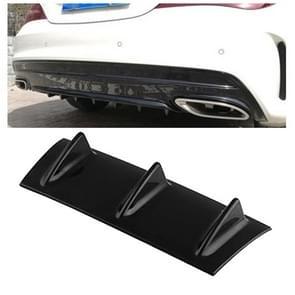 Universal Car Rear Bumper Lip Diffuser 3 Shark Fin Style Black ABS, Size: 35.5 x 30.5 x 15.2cm