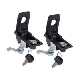 2 PCS Adjustable Black Paddle Entry Door Latch & Keys Tool Box Lock for Trailer / Yacht / Truck