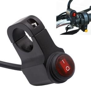 Motorfiets koplamp ondersteunende licht waterdichte aluminiumlegering enkele Flash Switches met lampje