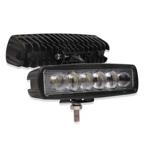 6 inch 18W 6000K IP68 8D Auto boot Marine werklichten Spotlight LED-lampen  DC 10-30V (wit licht)