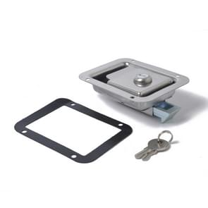 Stainless Steel Tool Box Lock Paddle Latch & Keys for Trailer / Yacht / Truck