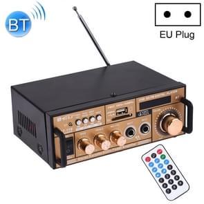 BT-118 Bluetooth HiFi Stereo audio versterker met afstandsbediening  LED-display  USB/SD & MMC-kaart/MP3/AUX/FM  AC 220V/DC 12V  EU-stekker