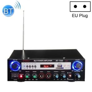 BT-7388 Bluetooth HiFi Stereo audio versterker met afstandsbediening  LED-display  USB/SD & MMC-kaart/MP3/AUX/FM/CD/VCD  AC 220V/DC 12V  EU-stekker