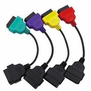 4-Color ECU scan adapter Kabelbundel kabel ecu sluit Kabeldiagnose kabel aan voor Fiat