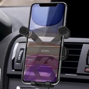 WIWU Exquisite Series PL300 Car Air Outlet Rotatable Gravity Linkage Mobiele telefoon beugel voor 4-6 inch mobiele telefoons