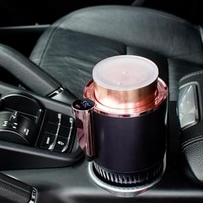 Portable 2 in 1 Smart Dual-purpose Heating Cooling Cup Holder for Car and Home(Purple)