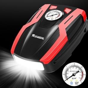 RUNDONG AUTO accessoires 12V protable auto elektrische banden pomp luchtpomp Tire Inflator  pointer versie (rood)