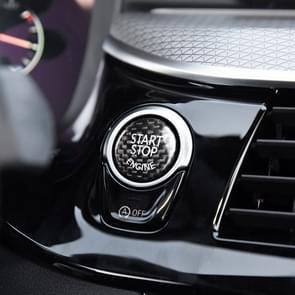 Car Engine Start Key Push Button Cover Trim Carbon Fiber Sticker Decoration for BMW F / G Chassis (Black)